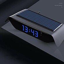 Thermomètre d'horloge de Voiture Solaire