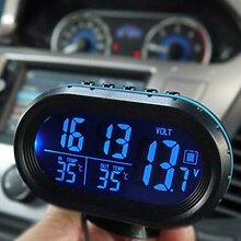 Thermomètre de voiture, horloge numérique,