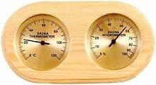 Thermomètre , Hygromètre SAWO en Pin pour sauna
