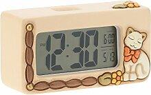 THUN Country Horloge numérique Chat Céramique