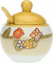 THUN - Sucrier en porcelaine avec cuillère Country