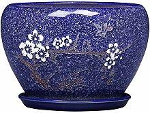 Thwarm Simple Pot de fleurs avec plateau en