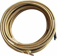 Tibelec 075230 Câble électrique textile Or