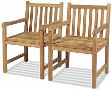 Tidyard 2 pcs Chaise de Jardin | Chaise
