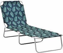 Tidyard Chaise Longue Pliable Transat pour Jardin