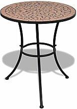 Tidyard Table de Jardin Terrasse Mosaïque