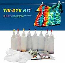 Tie Dye Kit, 8 Couleurs One-Step Tie Dye Art Set,