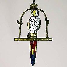 Tiffany Lustre de style, 12 pouces Parrot Pendant