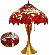 Tiffany Style Art En Verre Lampe De Table Érable