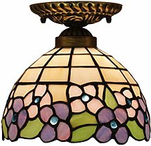 Tiffany Style de 8 pouces rétro Stained Glass