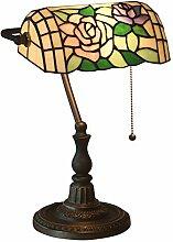 Tiffany Style Lampe de Banquier Lampe de Table