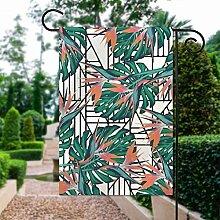 Tige de plante tropicale en textile avec motif
