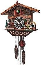 Timagebreze Horloge en Bois Horloge Murale RéVeil