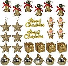 Tinksky Deco Sapin de Noel 28 Pieces Merry