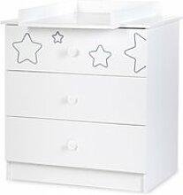 Tino commode enfant 3 tiroirs motifs étoiles +