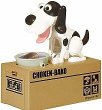Tirelire 5five chiot qui mange chien affamé