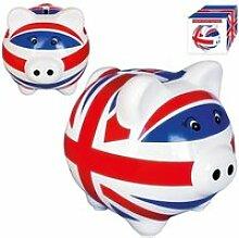 Tirelire céramique cochon london