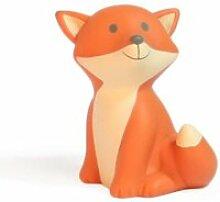 Tirelire césar - renard - 7 cm - orange