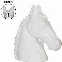 Tirelire cheval blanc