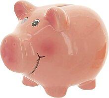 Tirelire cochon en céramique Piggy porte-bonheur