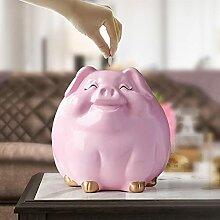 Tirelire Cochon Pour Enfants Cadeau Résine Animal