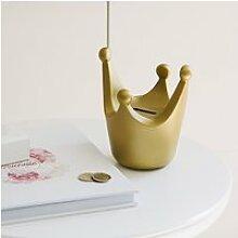 Tirelire couronne - taille l - royal crown - doré