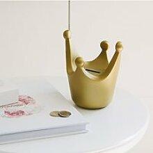 Tirelire couronne - taille s - royal crown - doré