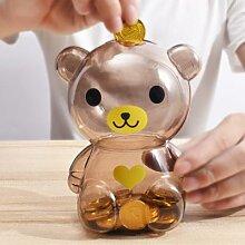 Tirelire créative ours en vinyle pour enfants,