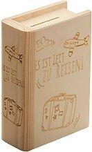 Tirelire en Bois avec Gravure - Tirelire Cadeau -