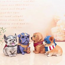 Tirelire en résine décorative pour chien