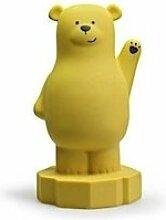 Tirelire lou - ours - jaune