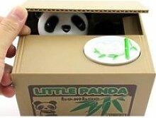 Tirelire panda - Pour enfant - 15 x 12,5 x 12,6 cm