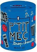Tirelire PETIT MEC En Métal Bleu - Rangement