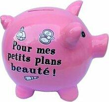 Tirelire Rose Cochon - Plan Be