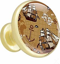 Tiroir de cuisine tire or Ancienne carte du monde