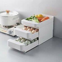 Tiroir de rangement des œufs empilable à 3