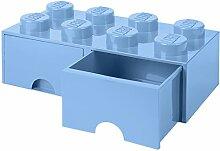 Tiroir en brique LEGO 8 boutons, 2 tiroirs, boîte