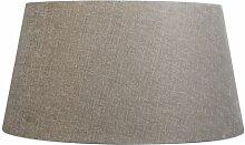 Tissu Abat-jour en lin argile 50/40/26 Qazqa