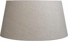 Tissu Abat-jour en lin gris 50/40/26 Qazqa Moderne