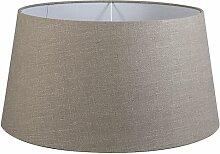 Tissu Abat-jour en lin gris 55/45/28 Moderne Rond