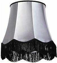 Tissu Abat-jour en soie noir avec gris 45 cm -