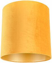 Tissu Abat-jour en velours jaune 40/40/40 avec