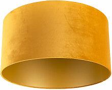 Tissu Abat-jour en velours jaune 50/50/25 avec