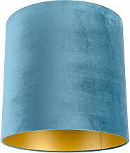 Tissu Abat-jour velours bleu 40/40/40 avec