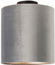 Tissu Classique gris tache avec taupe - Combi