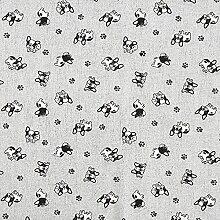 Tissu de décoration Canvas Bouledogue – gris