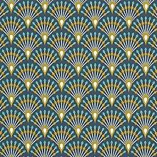 Tissu de décoration Cretonne Paon – navy —