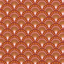 Tissu de décoration Cretonne Paon – rouge