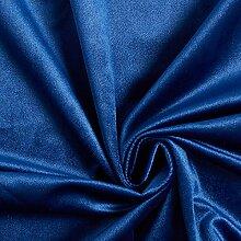 Tissu de décoration Velours – bleu marine —