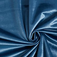 Tissu de décoration Velours – gris bleu —
